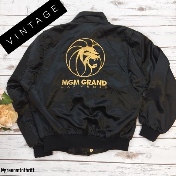 fc5b1f37ae55df Jackets   Blazers - Vintage! MGM Grand Las Vegas Bomber Jacket Size L